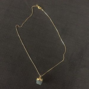 Raw Aquamarine 14K Gold